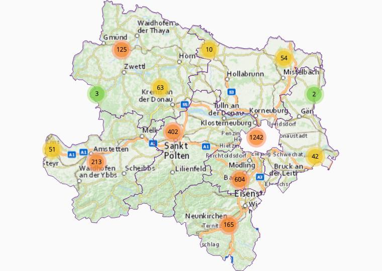 Wholesale import-export-trade in Lower Austria
