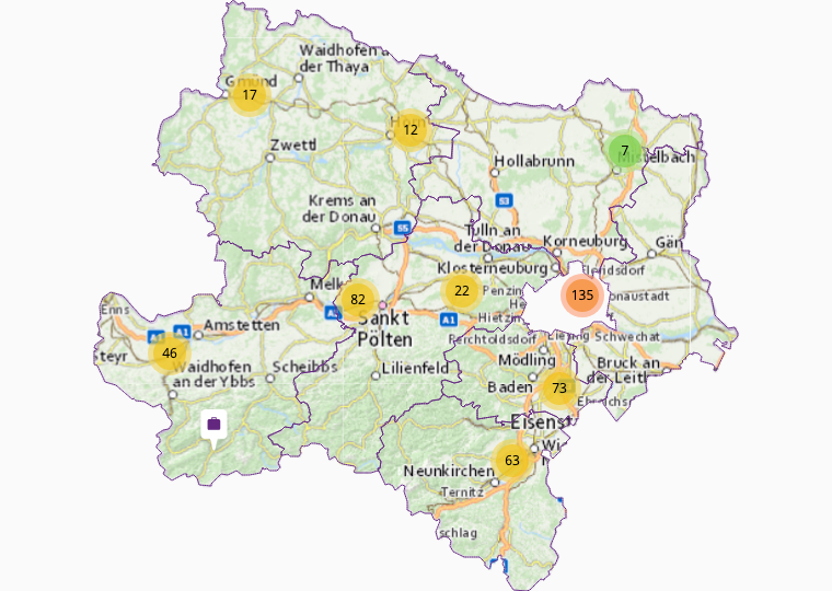 Combustible & synthetic materials in Lower Austria